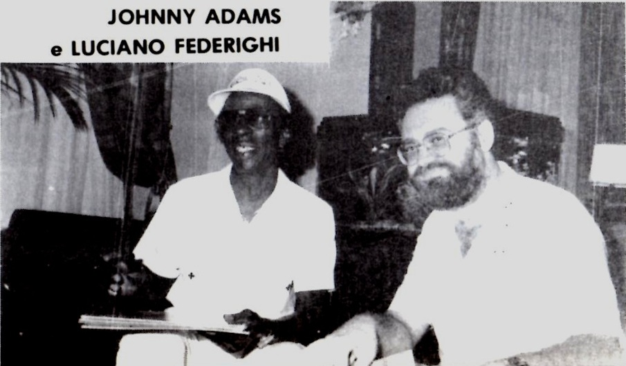 Summer Of 1988 In Viareggio An Interview With The Tan Nightingale From New Orleans JOHNNY ADAMS Master Chiaroscuro Soul Jazz Vocals